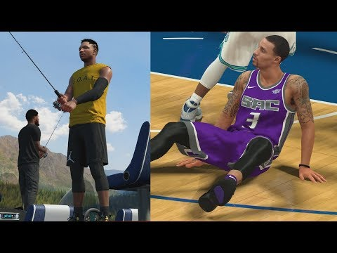 NBA 2K18 My Career - Dropped Hill! Fishing Funny Haircut! PS4 Pro 4K Gameplay