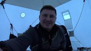 Первый лед Вышневолоцкое водохранилище Рыбалка с ночевкой