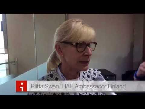 Pirkko Mattila Riitta Swan Finland Arab Health 2018