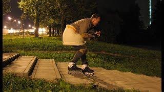 Защита для отработки спуска с лестниц на роликах своими руками
