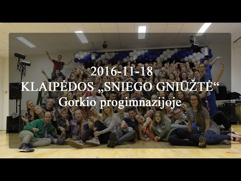 "2016-11-18 KLAIPĖDOS ""SNIEGO GNIŪŽTĖ"" Gorkio progimnazijoje"
