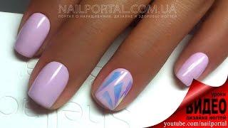 Дизайн ногтей гель-лак shellac - Дизайн битое стекло (видео уроки дизайна ногтей)