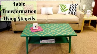 Stunning Table Makeover with Tile Stencils!