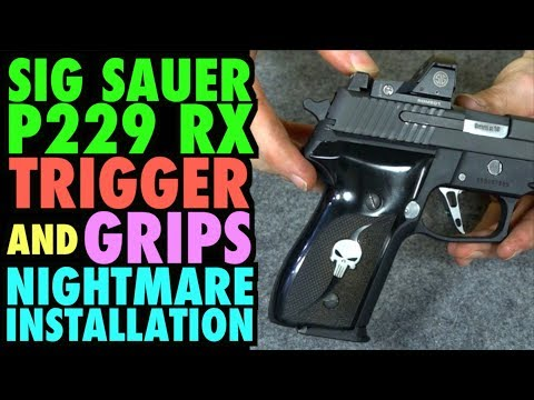 SIG P229 RX Custom Trigger & Grip Nightmare Installation!