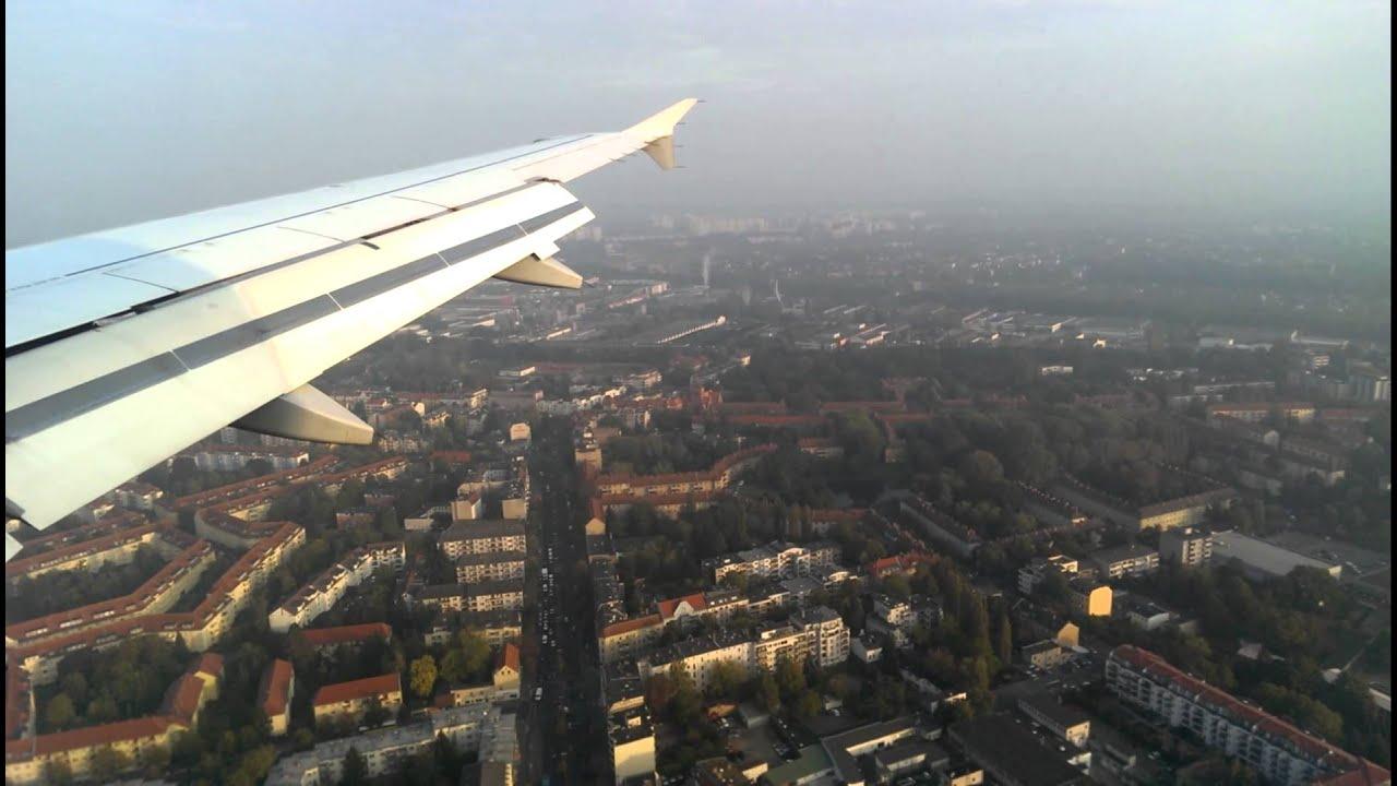 4u024 anflug und landung auf berlin tegel youtube. Black Bedroom Furniture Sets. Home Design Ideas