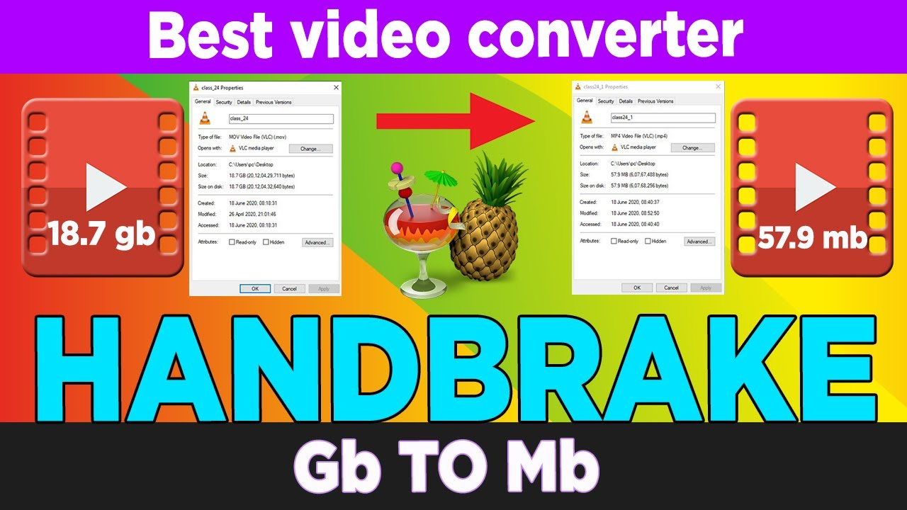 Best Video Converter For Windows & Mac | How to Convert Mov to mp4 | Handbrake 1.3.3 | sam tech