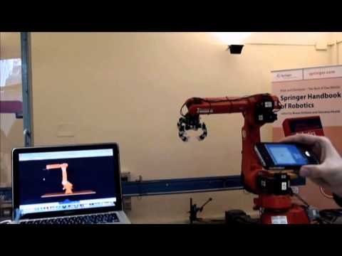[B.Sc. Thesis] - Kinematic control of a robot manipulator using an iPhone