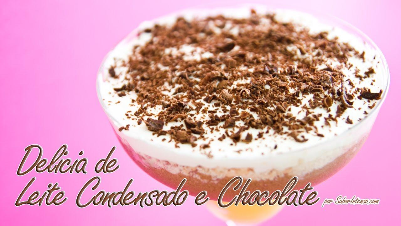 Receita de Delícia de Leite Condensado e Chocolate