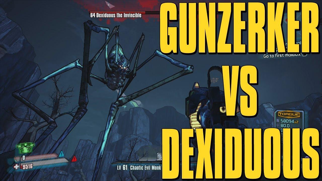 Borderlands 2 Dexiduous The Invincible Raid Boss - Solo Gunzerker Kill