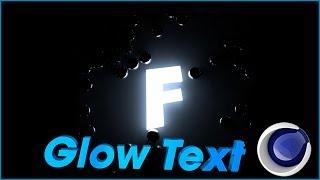 Как сделать светящийся текст  в Cinema 4d | Glow Text