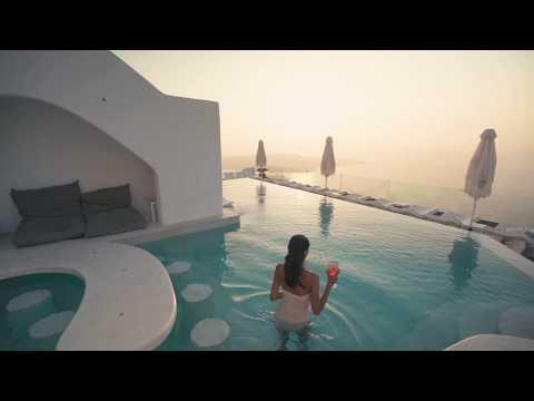The infinity pool of Athina Luxury Suites - Santorini