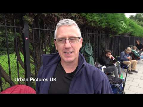 Interview with first person in the Wimbledon queue