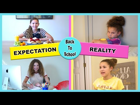 Back to School - Expectation vs Reality (Haschak Sisters)
