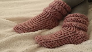 HOW TO KNIT SLIPPERS ON ROUND LOOM