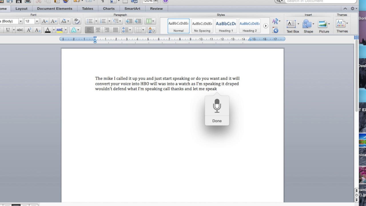 The Free Option – Built-in OS X Dictation