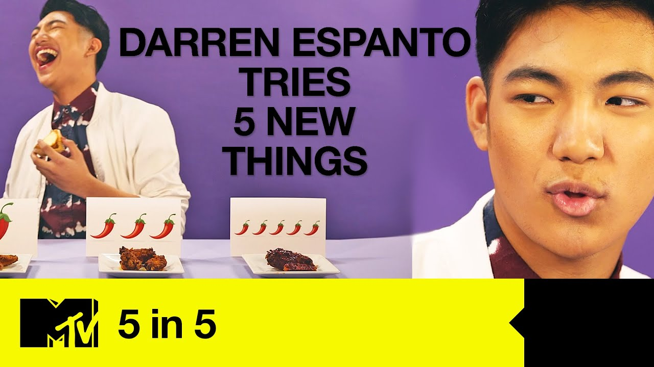 Darren Espanto Tries Hot Wings Challenge, Whistling & A Helium Phone Call   [ENG/PH SUBS]   5 In