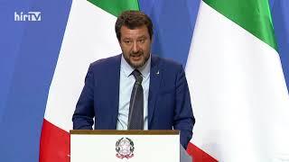 Orbán Viktor és Matteo Salvini nemzetközi sajtótájékoztatója - HÍR TV