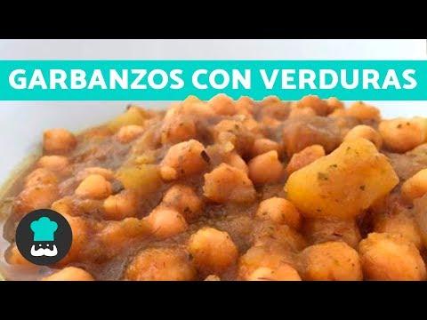 Garbanzos con verduras | Receta FÁCIL y rápida |Potaje de garbanzos con verduras EN OLLA RÁPIDA