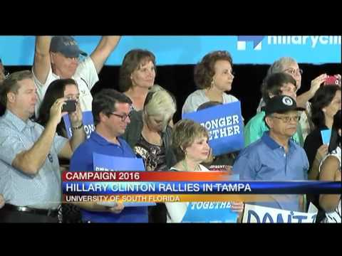 Hillary Clinton in Tampa - 6pm Report