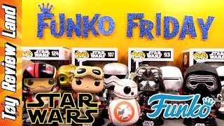 Funko Friday Star Wars Funko Pop Unboxing + My Star Wars The Force Awakens Funko pop collection