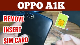 OPPO A1K How to Eject & Insert Sim Card in OPPO A1K