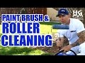 How to clean paint brushes and rollers. The quick and effective way!