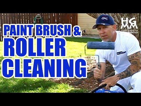 how to clean paint brushes and rollers the quick and effective way youtube. Black Bedroom Furniture Sets. Home Design Ideas