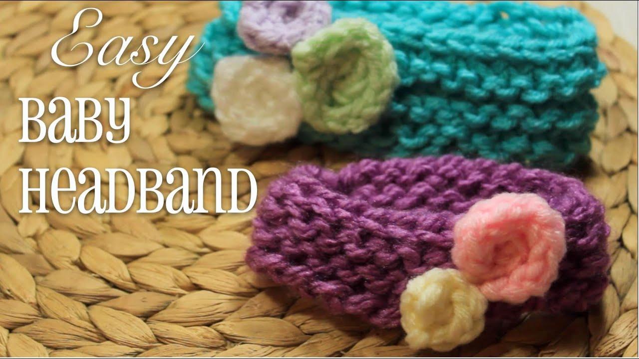 Loom Knitting: EASY Baby Headband! - YouTube