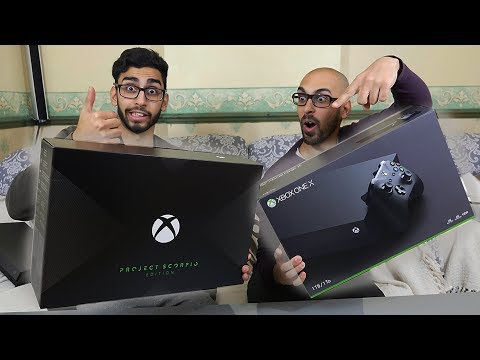 Xbox One X Project Scorpio Edition VS Standard Edition Unboxing