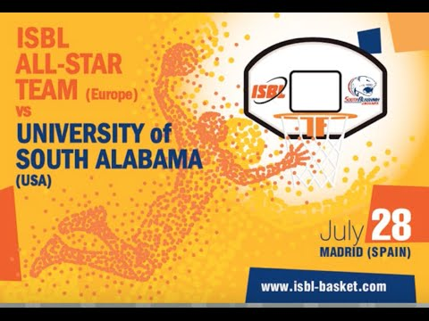 SOUTH ALABAMA vs. ISBL All Star Team (Europe) - PFS Foreign Tour Game - LIVE