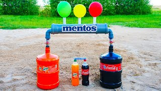 Experiment! Coca Cola and Mirinda vs Mentos!