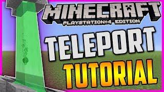TELETRASPORTO SENZA MOD!! MINECRAFT PS4 ITA TUTORIAL MECCANISMO SPECIALE ( PC XBOX WIIU )
