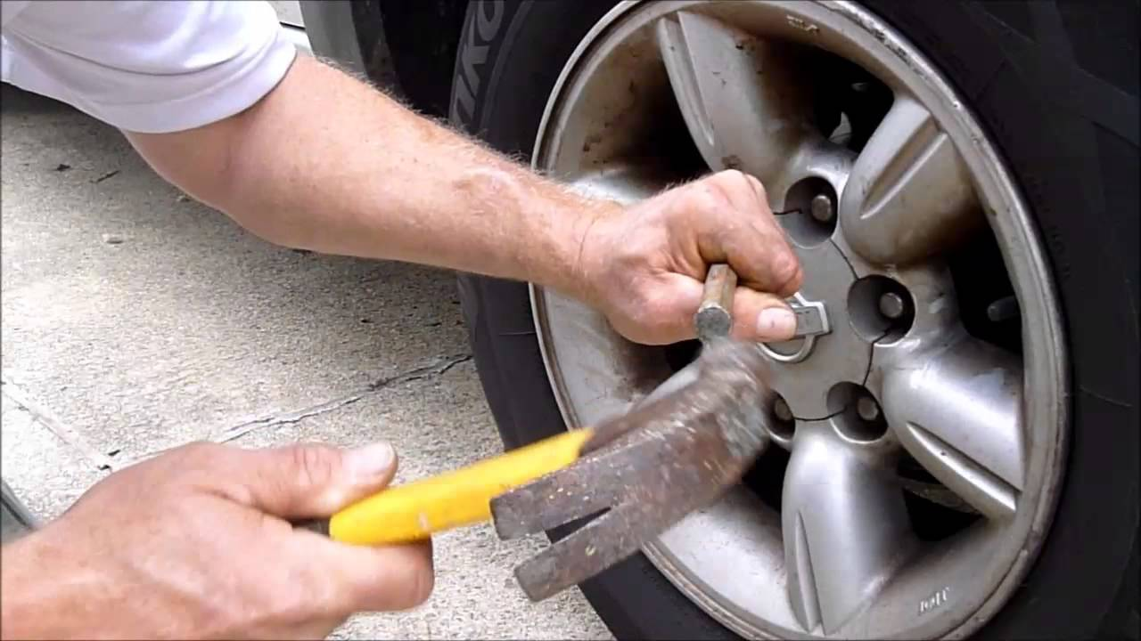 How To Get Bad Locking Lug Nuts Off The Wheel Youtube