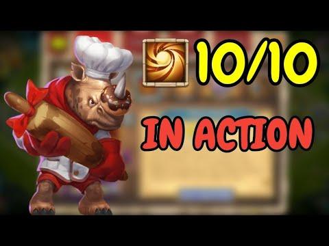 Rockno L 10/10 Sacred Light In Action L Castle Clash