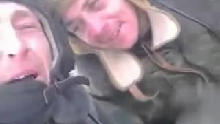 Дебальцево, в трофейном  танке  ДНР Т 64БВ нашли видео    Два Дебила Это Сила!