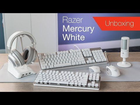 Unboxing (almost) All Razer's Mercury White Collection For 2019