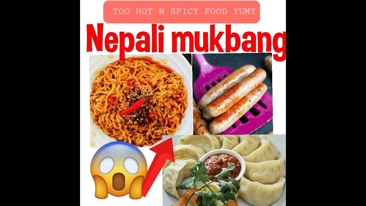 Download #mukbang Nepali Food Eating - Momo , dumpling, sausage, Ramen, Hotpot #asmr #hotpot #spicyramen