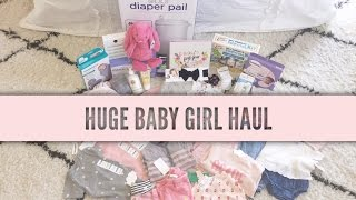 HUGE BABY GIRL HAUL | Old Navy, Amazon, Nordstrom, H&M, Small shops & More | Tara Henderson
