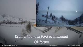 Review camera DVR auto Viofo A129 Duo GPS, filmare iarna, la munte, Breaza, Suceava