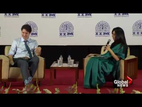 JUSTIN TRUDEAU HOLDS FORUM WITH IIM STUDENTS IN AHMEDABAD
