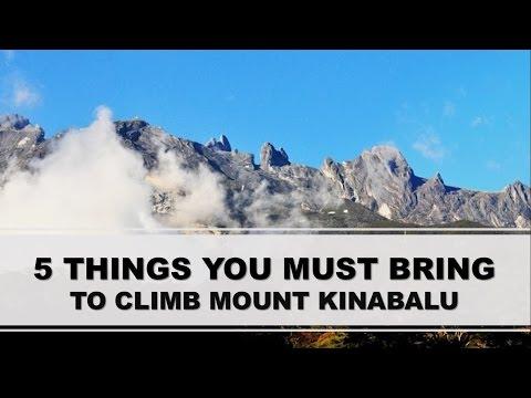 5 THINGS YOU MUST BRING TO MOUNT KINABALU, SABAH, BORNEO