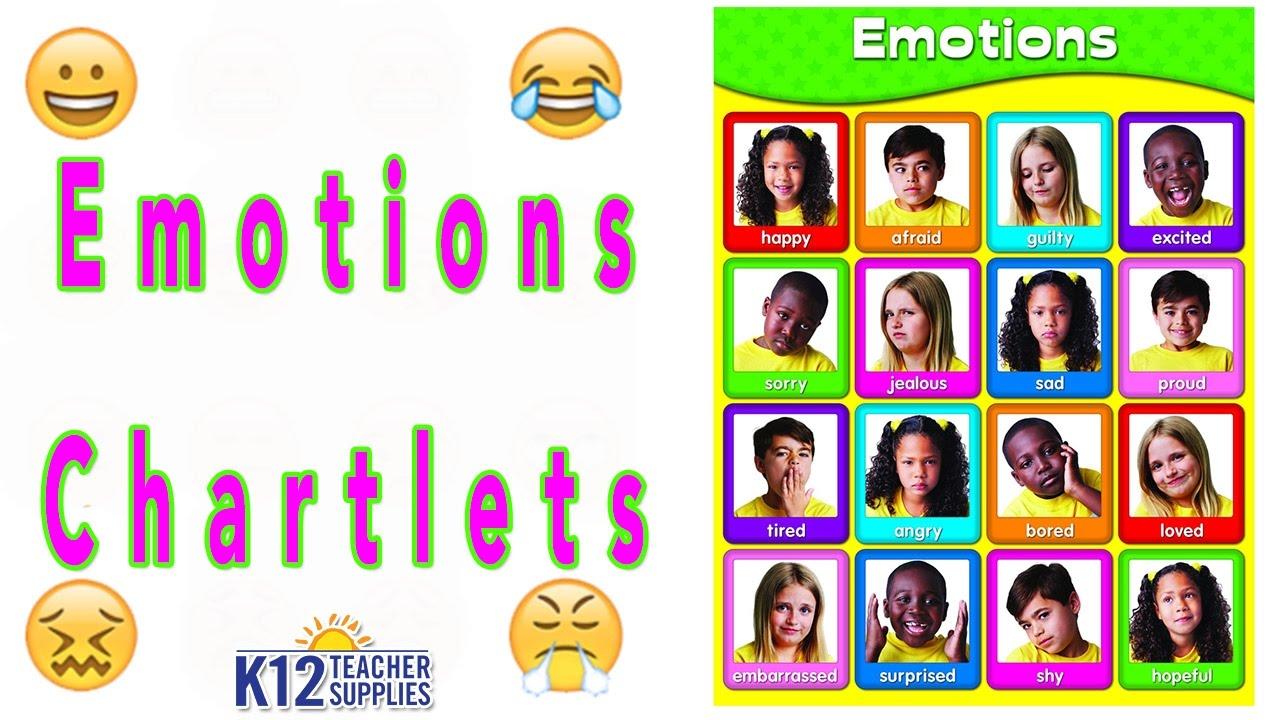 Best feelings chart emotion teacher supplies also youtube rh