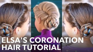 Frozen Inspired Elsa's Coronation Updo | A CuteGirlsHairstyles Disney Exclusive