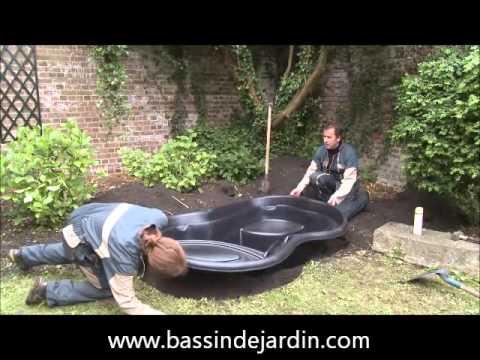 Installer un bassin de jardin prform  YouTube