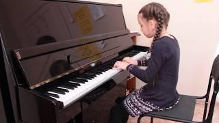 Ляховицкая С. Этюд - Петухова Алина, общее фортепиано, 3 месяца обучения