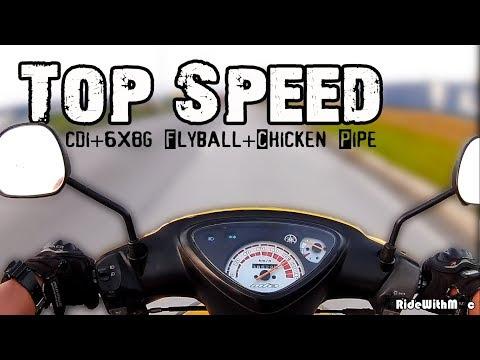 Yamaha Mio Sporty: TOP SPEED