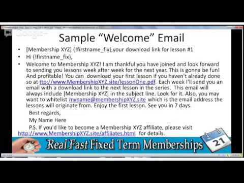 Make Money Online With Fixed Term Membership PT2
