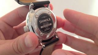 Shinola. The Runwell 47mm Watch Review and Video Review