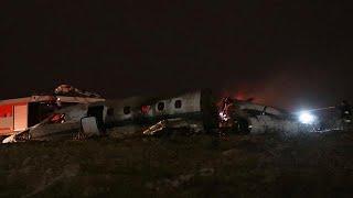 إعادة فتح مطار أتاتورك بعد تحطم طائرة على الممر