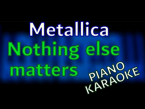 Metallica - Nothing Else Matters PIANO KARAOKE by Kamilogram